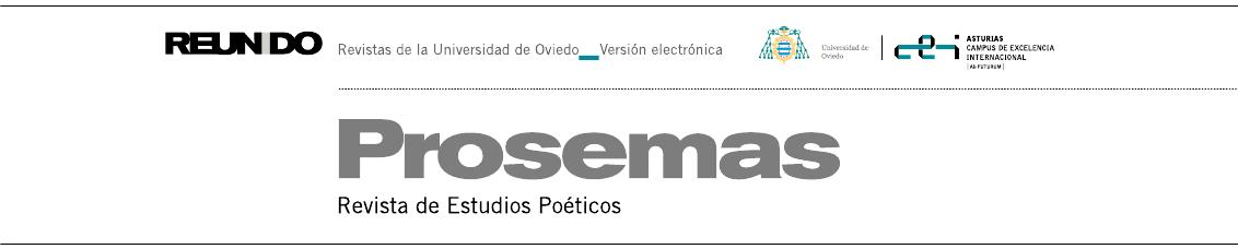 Prosemas. Revista de Estudios Poéticos
