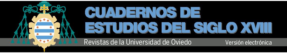 Logotipo Revistas Cuadernos de Estudios del Siglo XVIII