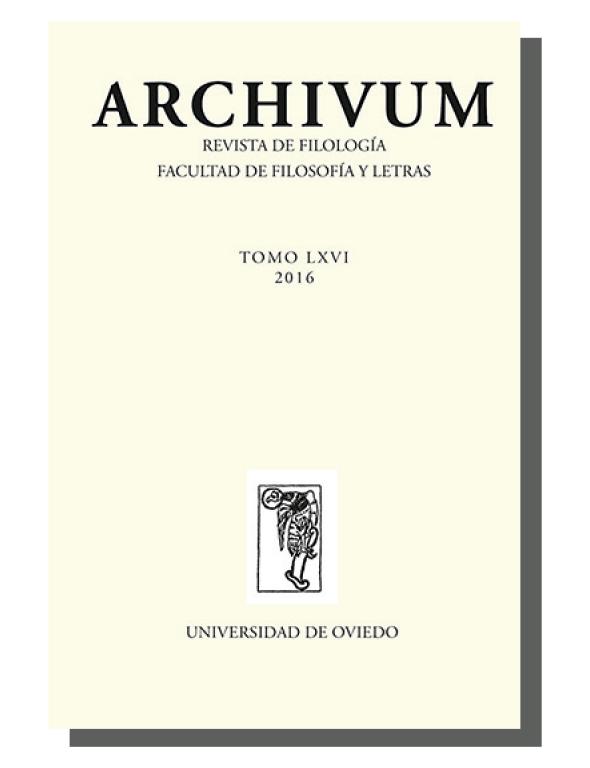 Cubierta revista Archivum